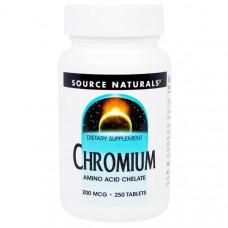 Хром Source Naturals 200 мкг, 250 таблеток