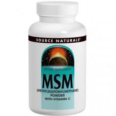 Source Naturals МСМ (метилсульфонилметан) в порошке с витамином C, 227 г
