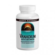Ванадий с хромом Source Naturals, 90 таблеток