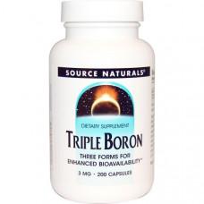 Тройной бор Source Naturals 3 мг, 200 капсул
