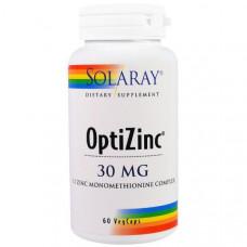 Оптицинк Solaray 30 мг, 60 капсул