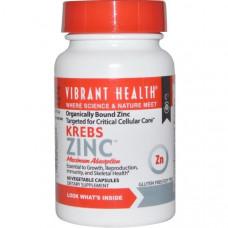 Цинк Krebs Vibrant Health, 60 капсул