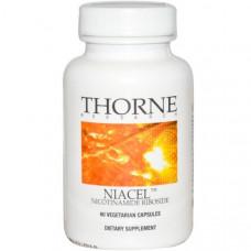 Thorne Research, Niacel, никотинамид рибозид, 60 растительных капсул