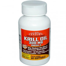 21st Century, Масло криля, 300 мг, 60 мягких капсул