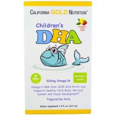 California Gold Nutrition, ДГК для детей со вкусом лимона и клубники, 8 ж. унций (237 мл)