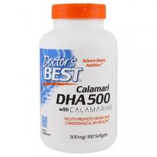 Doctors Best, Calamari DHA 500 with Calamarine, 500 mg, 180 Softgels