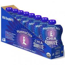 Mamma Chia, Органический сок чиа, энергетическая закуска, дикая малина, 8 пачек, 3.5 унции (99 г) шт.
