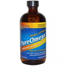 North American Herb & Spice Co., PureOmega, масло Саша Инчи из Амазонки с Омега 3 и 6, 237 мл