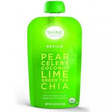 SHINE Organics, Восстановление, груша, сельдерей, кокос, лайм, зеленый чай, чиа, 4 упаковки, по 4,22 унции (120 г) в каждой