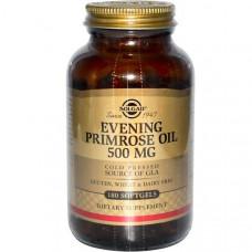 Solgar, Масло примулы вечерней, 500 мг, 180 гелевых капсул