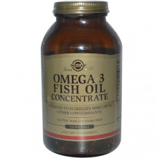 Solgar, Концентрат рыбьего жира Омега-3, 120 капсул