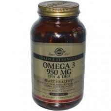 Solgar, Oмега-3 ЭПК и ДГК, Тройная Сила, 950 мг, 100 капсул