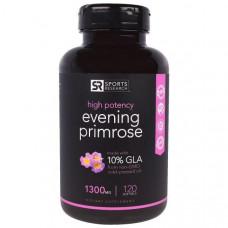 Sports Research, Примула вечерняя, 1300 мг, 120 мягких желатиновых капсул с жидкостью