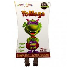 Vitamin Friends, YoMega, семена льна, 20 шоколадно-йогуртовых медвежат