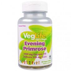 VegLife, Примула вечерняя, 1000 мг, 60 веганских мягких капсул
