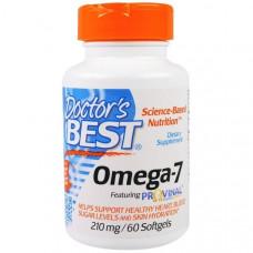 Doctors Best, Омега-7, 210 мг, 60 мягких капсул