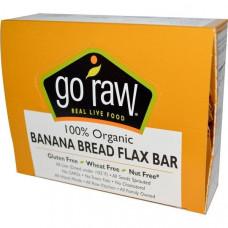 Go Raw, Органические банановые батончики с семенами льна, 10 батончиков, 12 г каждый