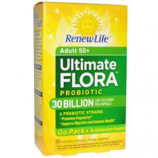 Renew Life, Полноценная флора Пробиотик, 30 миллиардов, 30 вегетарианских капсул