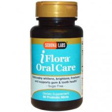 Sedona Labs, iFlora Уход за полостью рта, 60 мятных таблеток с пробиотиком