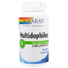 Solaray, Multidophilus, формула с тремя штаммами, 100 вегетарианских капсул