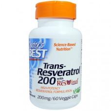 Doctors Best, Транс-ресвератрол, таблетки 60 овощных капсул