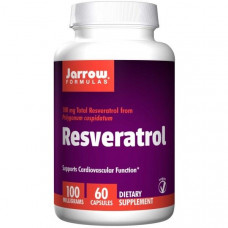 Jarrow Formulas, Ресвератрол 100, 60 овощных капсул