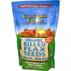 Carrington Farms, Органические шлифованные семена льна, 396 г (14 унций)