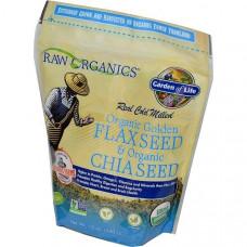Garden of Life, Органические семена золотого льна и чии, 12 унций (340 г)