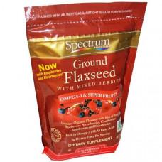 Spectrum Essentials, Молотые семена льна со смесью ягод, 12 унций (340 г)