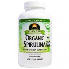 Source Naturals, Vegan True, органические спирулины, 8 унций (226,7 г)
