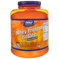 Now Foods, Изолят сывороточного протеина для спортсменов с натуральным вкусом, 5 фунтов (2268 г)