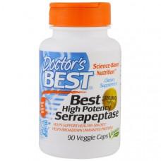 Doctors Best, Серрапептаза (Best High Potency Serrapeptase), 120 000 SPU, 90 растительных капсул