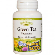 Natural Factors, Фитосомы зеленого чая, 50 мг, 60 капсул
