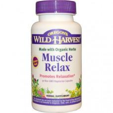 Oregons Wild Harvest, Muscle Relax (расслабление мышц), 90 вегетарианских капсул без ГМО