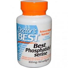 Doctors Best, Best, фосфатидилсерин, 100 мг, 60 капсул