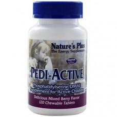Natures Plus, Pedi-Active, добавка для активных детей, со вкусом ягодной смеси, 120 жевательных таблеток