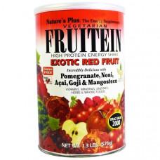Natures Plus, Фрутеин, энергетический коктейль с высоким содержанием белка, экзотические фрукты, (576 г)