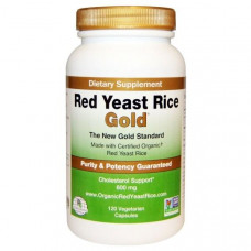 IP-6 International, Красный дрожжевой рис, Gold, 120 капсул на растительной основе