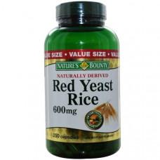 Natures Bounty, Красный дрожжевой рис, 600 мг, 250 капсул