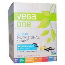 Vega, ВегаОдин, питательный коктейль все-в-одном, французская ваниль, 10 пакетов, 41 г (1,5 унции) каждый