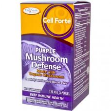 Enzymatic Therapy, Cелл форте Пурпурная грибная защита, 120 капсул на растительной основе