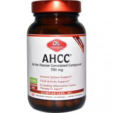 Olympian Labs Inc., AHCC (Активный Гексо Состав), 750 мг, 60 капсул