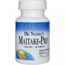 Planetary Herbals, Гриб мейтаке Мейтаке-Про доктора Нанба, 1050 мг, 30 таблеток