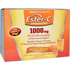American Health, Витамин С Эстер C (витаминный комплекс), шипучий, 1000 мг, 21 пакетиков, 0,35 унции (10 г)