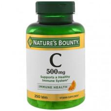 Natures Bounty, Витамин C, 500 мг, 250 таблеток