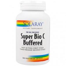 Solaray, Super Bio, буферизованный витамин С, 100 вегетарианских капсул