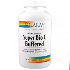 Solaray, Буферизованный супер био C, 250 капсул на растительной основе