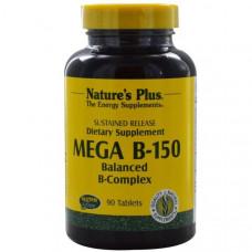 Natures Plus, Mega B-150, Сбалансированный комплекс витаминов группы B, 90 таблеток