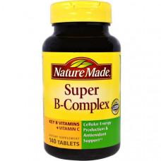 Nature Made, Супер-B-комплекс, комплекс витаминов группы B с витамином C, 140 таблеток