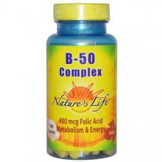 Natures Life, Комплекс B-50, 100 таблеток